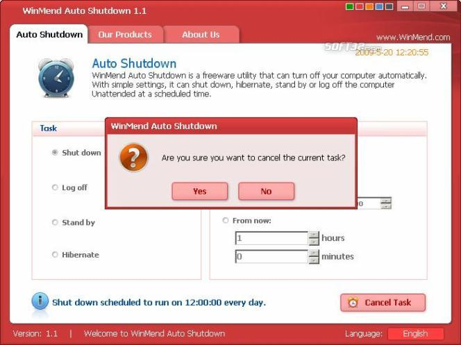 WinMend Auto Shutdown Screenshot 2