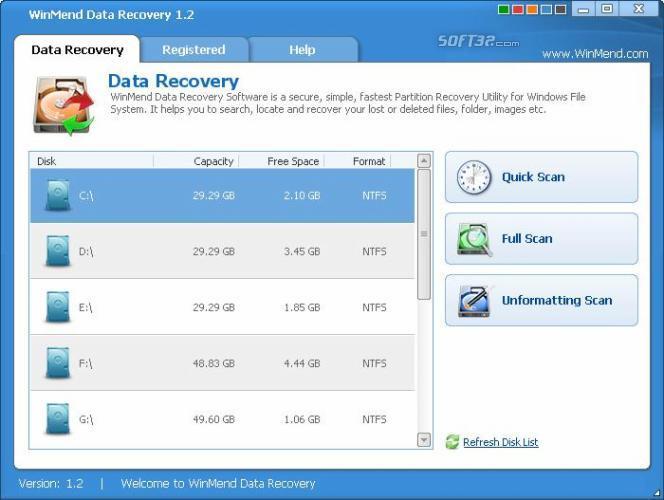 WinMend Data Recovery Screenshot 2