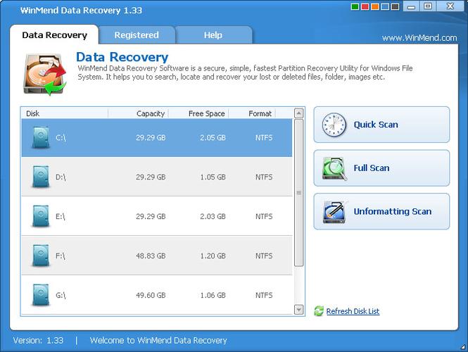 WinMend Data Recovery Screenshot 1