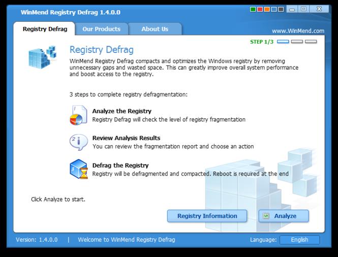WinMend Registry Defrag Screenshot 2