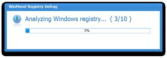 WinMend Registry Defrag Screenshot 3