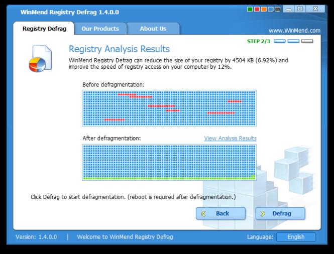 WinMend Registry Defrag Screenshot 4