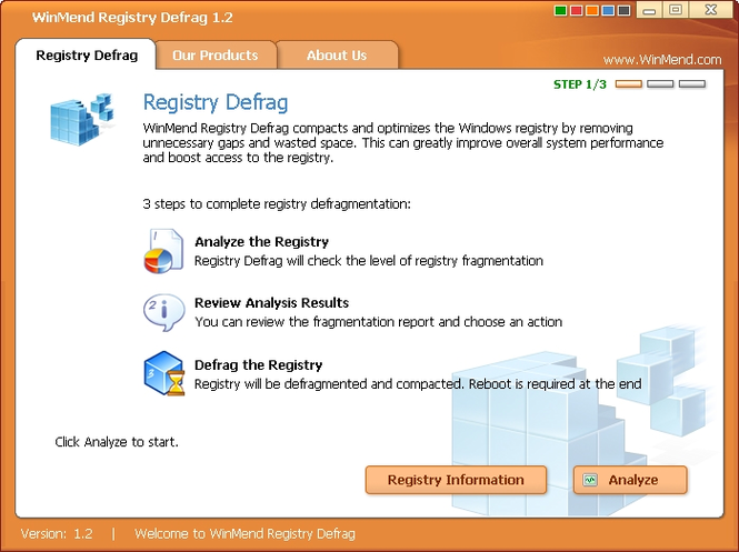 WinMend Registry Defrag Screenshot