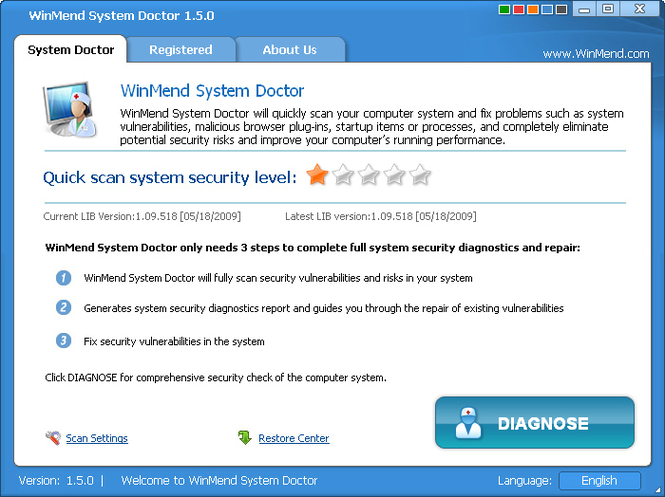 WinMend System Doctor Screenshot
