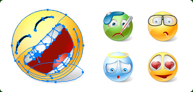 Icons-Land Vector Emoticons Screenshot