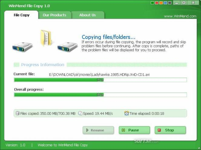 WinMend File Copy Screenshot 2
