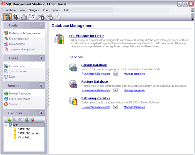 EMS SQL Management Studio for Oracle Screenshot