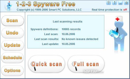 1-2-3 Spyware Free Screenshot