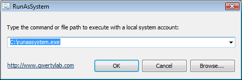Run As System Screenshot 1