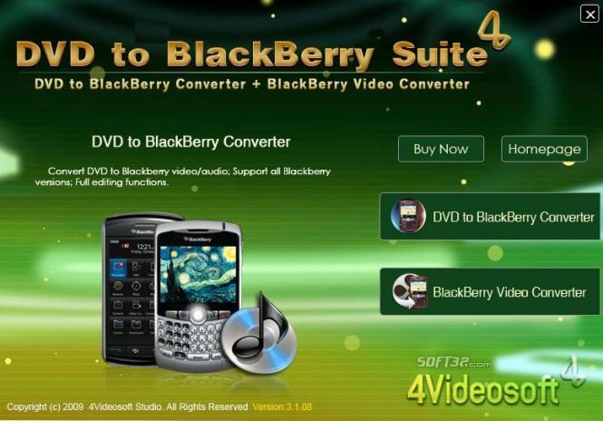 4Videosoft DVD to BlackBerry Suite Screenshot 2