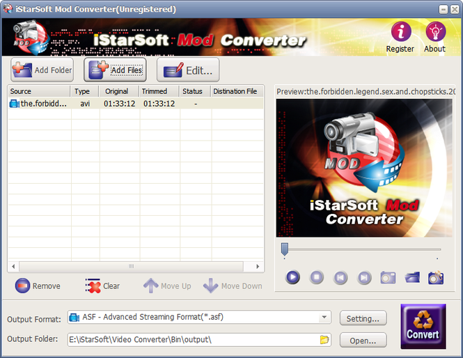 iStarSoft MOD Converter Screenshot