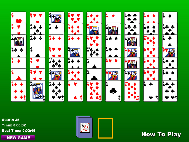 Golf Solitaire (2 Deck) Screenshot