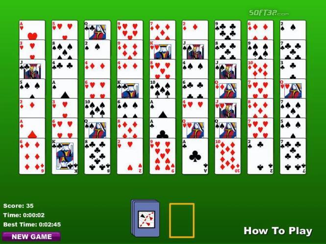 Golf Solitaire (2 Deck) Screenshot 2