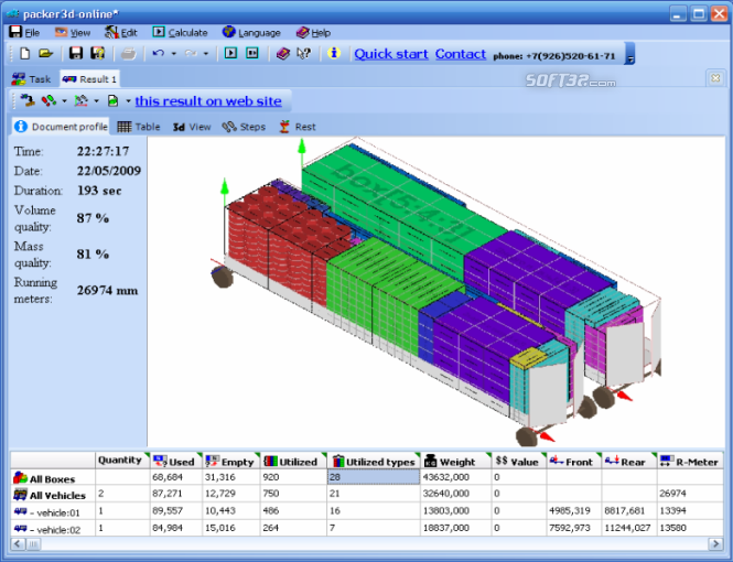 Packer3d Online Service Screenshot 2