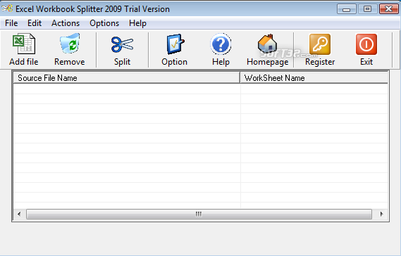 Excel Workbook Splitter Screenshot 2