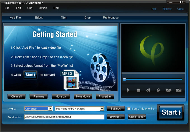 4Easysoft MPEG Converter Screenshot