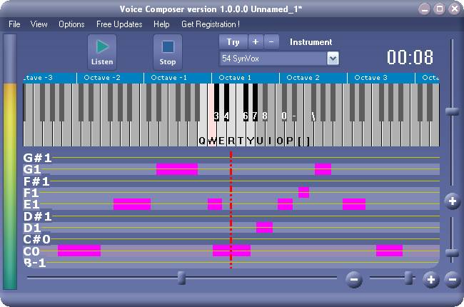 Xitona Voice Composer Screenshot