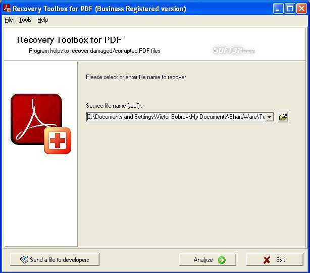 PDF Recovery Toolbox Screenshot 2