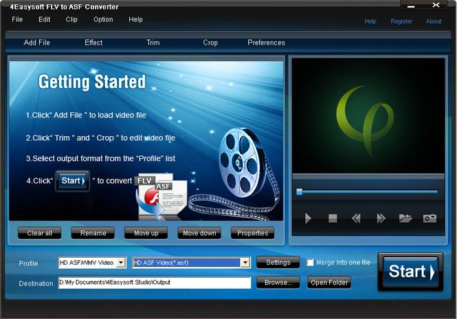 4Easysoft FLV to ASF Converter Screenshot