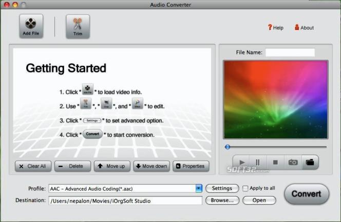 Iorgsoft Audio Converter for Mac Screenshot 2