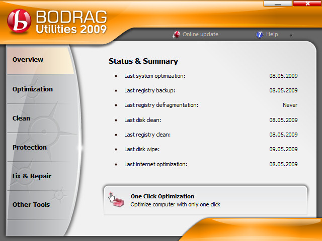 Bodrag Utilities 2009 Screenshot