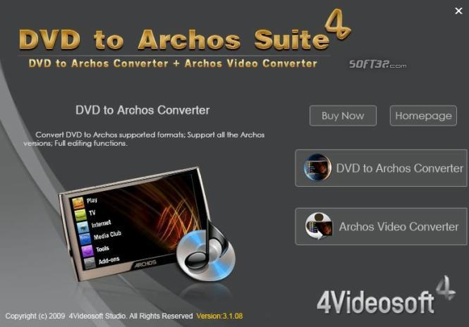 4Videosoft DVD to Archos Suite Screenshot 3