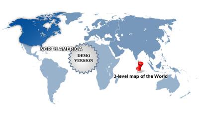 3-Level World Map Screenshot