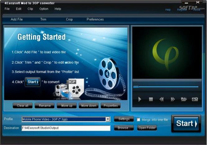4Easysoft Mod to 3GP Converter Screenshot 3