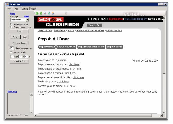 Backpage Bot Pro Screenshot 3