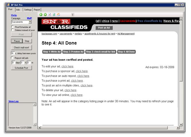 Backpage Bot Pro Screenshot