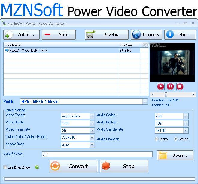 MZNSOFT Power Video Converter Screenshot 1