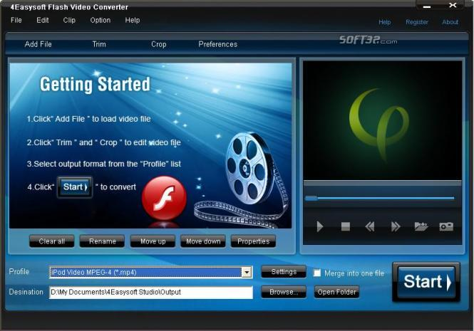 4Easysoft Flash Video Converter Screenshot 3