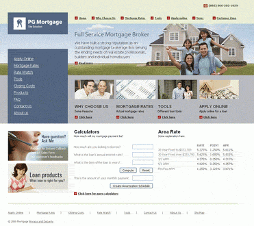 Ready Mortgage Site Solution Screenshot