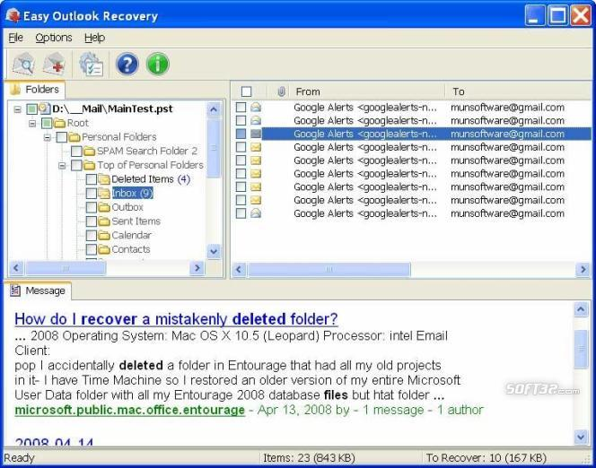 Easy Outlook Recovery Screenshot 2
