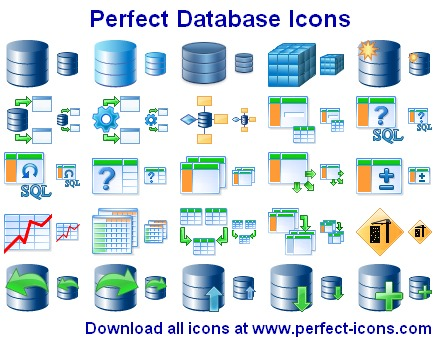 Perfect Database Icons Screenshot 1