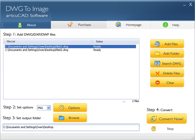 articuCAD DWG DXF to Image Converter Screenshot 1