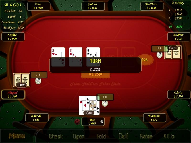 Texas Holdem Poker Suite Screenshot