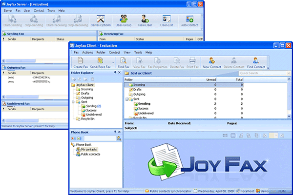 Joyfax Server Screenshot