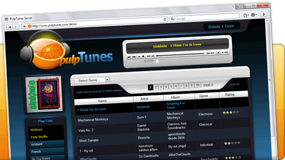 pulpTunes Screenshot