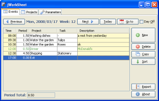 jWorkSheet Screenshot