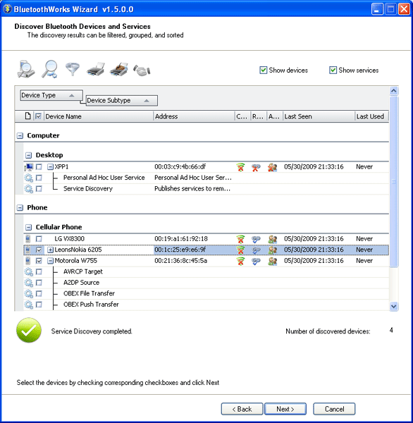 BluetoothWorks Wizard(1) Screenshot