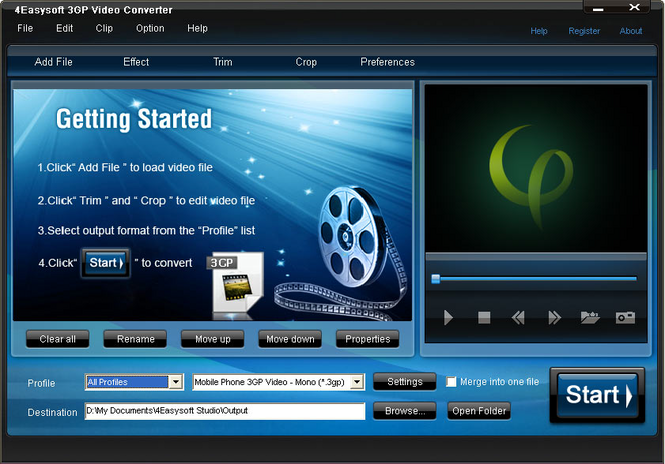 4Easysoft 3GP Video Converter Screenshot
