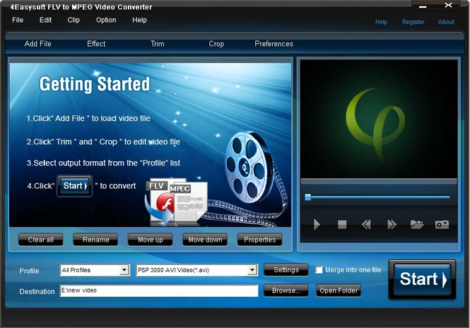 4Easysoft FLV to MPEG Video Converter Screenshot