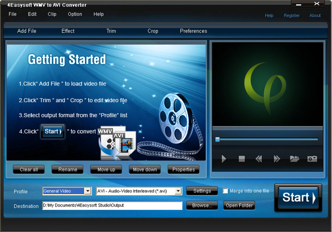 4Easysoft WMV to AVI Converter Screenshot 1