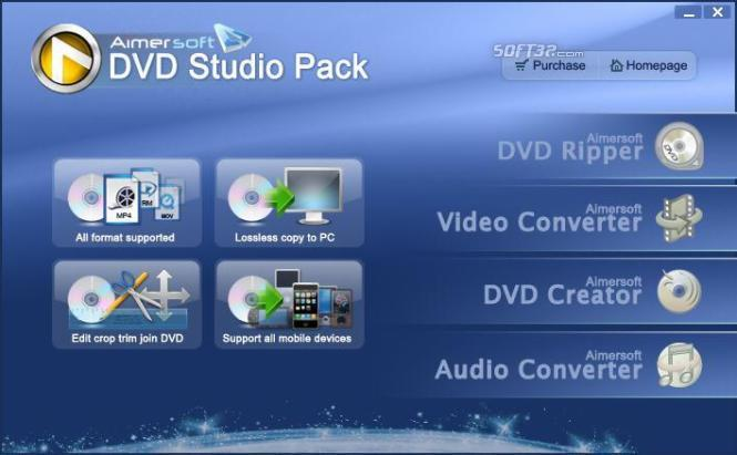 Aimersoft DVD Studio Pack Screenshot 1