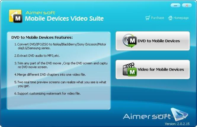 Aimersoft Mobile Devices Video Suite Screenshot