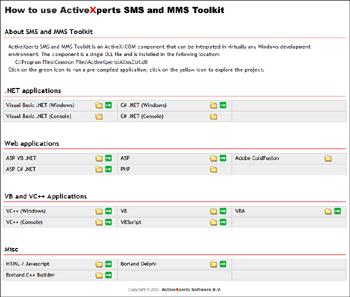 ActiveXperts SMS and MMS component Screenshot