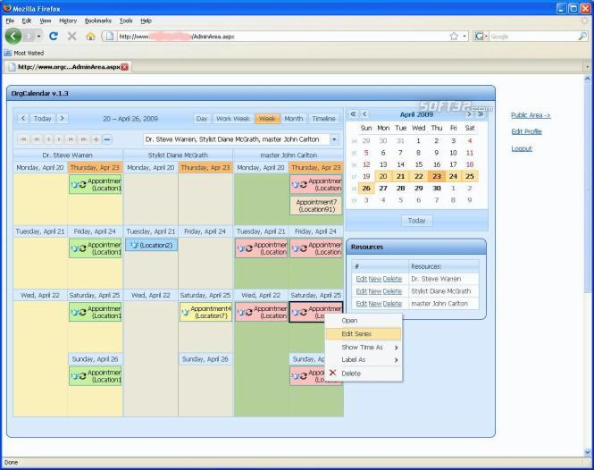 OrgCalendar (WEB) Screenshot 2