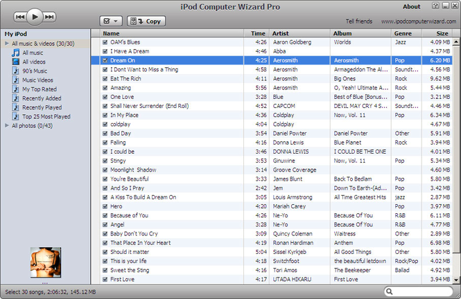 iPod Computer Wizard Screenshot