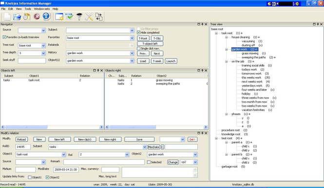 Knobjex Information Manager Screenshot